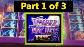 BIG WIN! Timber Wolf Legends Slot Machine Bonus!  ~ Aristocrat (Timber Wolf Part 1 Of 3)