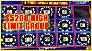 • $5200 HIGH LIMIT •Group Pull• @Cosmopolitan Las Vegas • Slot Machine Pokies w Brian Christopher