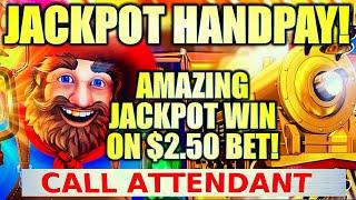 ⋆ Slots ⋆OMG!! JACKPOT HANDPAY!⋆ Slots ⋆ MY FIRST ATTEMPT! ALL ABOARD DYNAMITE DASH Slot Machine (KO