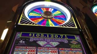 Wheel of Fortune Slot Machine ~ WHEEL SPIN ~ WORST SPIN POSSIBLE! • DJ BIZICK'S SLOT CHANNEL