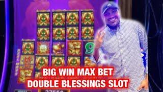 MAX BET DOUBLE BLESSINGS SLOT BIG WIN AT RIVER SPIRIT CASINO TULSA!!