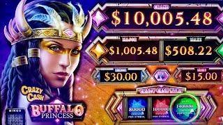 •G2E 2018• NEW Buffalo Princess CRAZY CASH Slot Machine PREVIEW w/NG Slot | Global Gaming Expo 2018