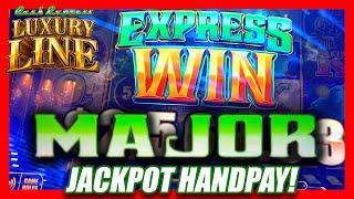 HUGE MAJOR JACKPOT HANDPAY ON LUXURY LINE ⋆ Slots ⋆ LJ TAKES OVER THE CHANNEL & WINS BIG!