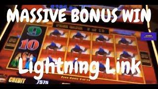 Lightning Link MASSIVE Bonus Slot Machine Slot #slot #slotwinner #pokie #pokies
