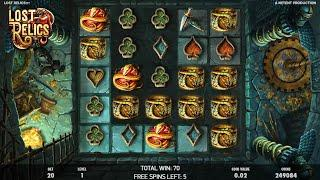 Lost Relics slots - 623 win!