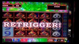 Ultra Stack Panda Slot Machine Bonus + Retriggers - 110 FREE SPINS - Big Win (#1)