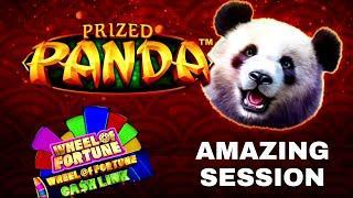 Prized Panda Slot Machine Max Bet Bonus & RE-TRIGGERS |Wheel Of Fortune CA$H LINK Slot Max Bet Bonus