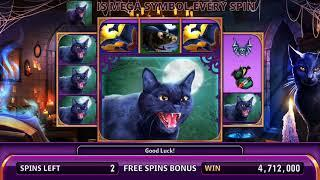 ELVIRA: THE WITCH IS BACK Video Slot Casino Game with an ELVIRA'S MEGA SPINS FREE SPIN BONUS