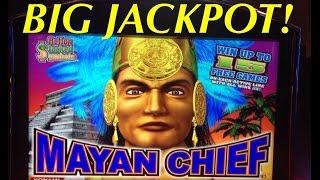 ** JACKPOT #6 ** MAYAN CHIEF slot machine MAX BET JACKPOT HANDPAY WIN!