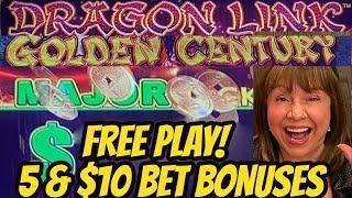 WOW! MAJOR WINNING ON FREE PLAY-DRAGON LINK BONUSES