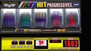 Quad progressive slots