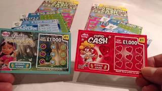 Scratchcards...COOL FORTUNE..TRIPLE 7..CUPID CASH..GODDESS FORTUNE..MATCH-3..LUCKY BUG