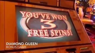 **High Limit Diamond Queen Bonus Game $20 bet**