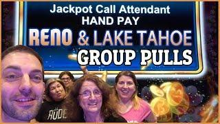 • GROUP JACKPOT HANDPAY on Lucky Tree • • Reno & Lake Tahoe Group Pull  • BrianGambles.com