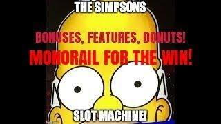 THE SIMPSONS SLOT MACHINE-MONORAIL-BONUS-FUN