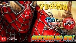 MARVEL SPIDERMAN & TWIN FIRE Slot Bonus WINS!