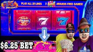 TRIPLE RED HOT 777 SLOT X6⋆ Slots ⋆BILLIONS EXCITING LINE HIT?!⋆ Slots ⋆LAS VEGAS GAMBLING!
