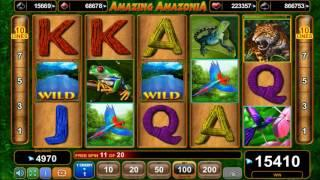 Amazing Amazonia slot - 18,320 win!