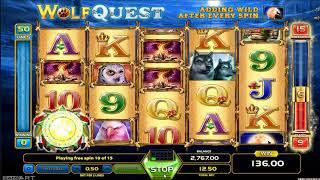 Wolf Quest slot - 826 win!