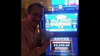$2,020.00 Jackpot on an All-Star Poker II Video Poker Machine @ Caesar's Las Vegas