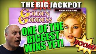 •HUGE JACKPOT! ONE OF THE BIGGEST WINS ON GOLDEN GODDESS YET! •