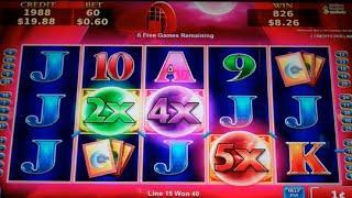 Gypsy Fire Slot Machine Bonus + Retriggers - 23 Free Games Win with Wild Multipliers (#5)