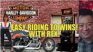 HARLEY DAVIDSON SLOT MACHINE BONUSES WITH REX-LIVE PLAY