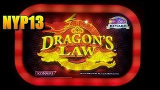 Konami - Dragon's Law Slot Bonus WIN