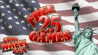 Super Wheel Blast - Miss Liberty - live play w/ two bonuses - Slot Machine Bonus
