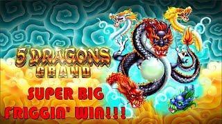 OMG!• SUPER DUPER BIG FRIGGIN' WIN on 5 DRAGONS GRAND SLOT POKIE - PECHANGA CASINO