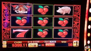 Irish Shamrock $20 spin handpay and $40 a spin bonus on One Red Cent Deluxe!