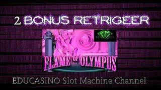 **FLAME OF OLYMPUS**2 BONUS WIN W/ RETRIGGER**BY ARISTOCRAT SLOT