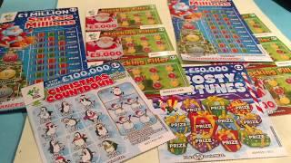 Jingle bells..The NEW Christmas Scratchcards..FROSTY FORTUNES..STOCKING FILLER..SANTA'S MILLIONS etc