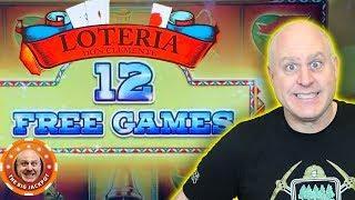 12 FREE GAMES! HIGH LIMIT LOTERIA SLOT MACHINE!• Big Lock It Link Slot Play •