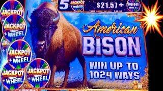 AMERICAN BISON $$$ MAX BET BONUS•BETTER THAN BUFFALO?• LAS VEGAS SLOTS!