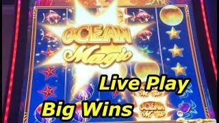 NEW SLOT: Ocean Magic Grand - live play big wins!