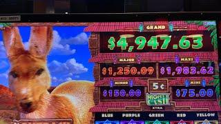 LIVE! Slots @ Choctaw Casino Mighty Cash Outback Bucks ChangeItUp