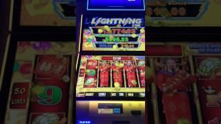 Lightning Link Bonus Spin Round Big Win with 200 Wilds