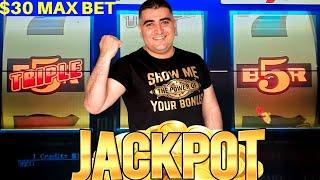 High Limit 3 Reel Slot Machine HANDPAY JACKPOT - Amazing Come Back   High Limit Slot Play- Part-3 #1