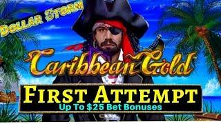 My 1st Attempt On NEW Dollar Storm Slot Machines- Up To $25 Bet Bonuses - PREMIERE STREAM