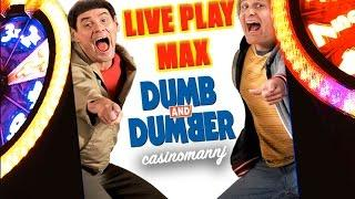**NEW** - DUMB AND DUMBER SLOT - LIVE PLAY MAX...plus BONUS FEATURE - Slot Machine Bonus