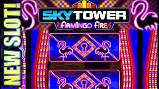 •FIRST ATTEMPT! SKY TOWER•  FLAMINGO FIRE & LADY OF THE TOWER (Incredible Technologies) Slot Machine