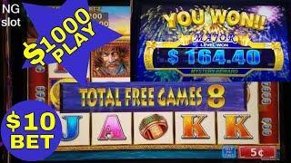 Legion Warrior Slot Machine Bonuses and PROGRESSIVE JACKPOT | $10 & $5 Bets!!!  $1000 Live Play