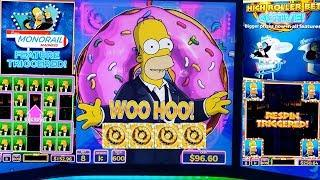 The Simpsons Slot Machine $6 Max Bet BONUS •SIMPSONS ALL FEATURES WON • | Live Slot Play w/NG Slot