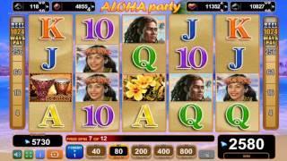 Aloha Party slot - 3,410 win!