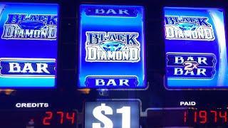 Slot Winner !! Progressive Jackpot Again - Huge Hand Pay•New Black Diamond - High Limit  赤富士スロット、カジノ