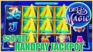 HIGH LIMIT Drop & Lock Deep Sea Magic HANDPAY JACKPOT ⋆ Slots ⋆ $50 BONUS ROUND LOCK IT LINK SLOT MA