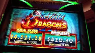 MORE FREE $$$ From Uncle Sheldon On Action Dragons Ainsworth Slot machine pokie Free spins