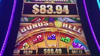 Big Win And HUGE WIN on 5 Dragons Grand Slot Machine
