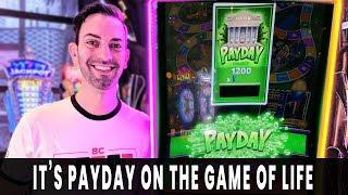• PAYDAY! Cashing In on GAME OF LIFE •Progressive WIN on Dancing Drums EXPLOSION